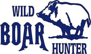 "Wild Boar Hunter Pig Hog Hunting Bow Gun Car truck Window Vinyl Decal Sticker - 16"" x 9.5"""