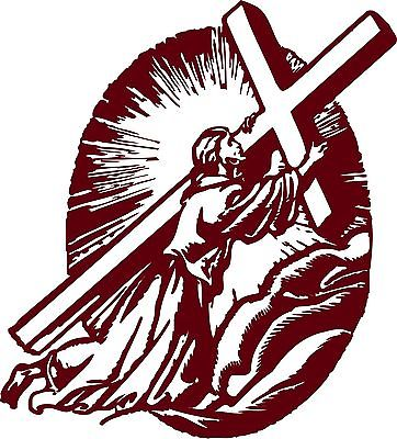 Christian Jesus Christ Cross GOD Car Truck Window Laptop Vinyl Decal Sticker - 11""