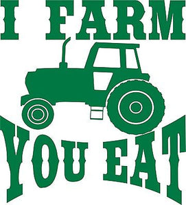 "Farm Tractor Farming Agriculture Funny Truck Window Laptop Vinyl Decal Sticker - 11"" Long Edge"