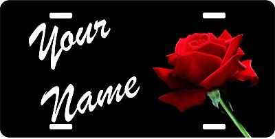 Red Rose Novelty Custom Personalized Name Flower License Plate Car Truck Tag