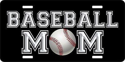Baseball Mom Sports Game Softball Personalized License Plate Car Truck Tag