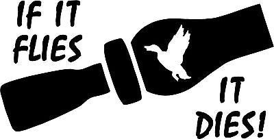 Duck Hunting Hunter Call Car Truck Window Laptop Vinyl Decal Sticker - 10""