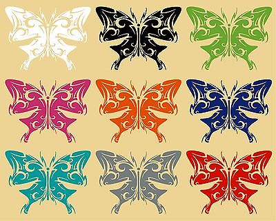"Butterfly Tribal Wings Truck Car Tattoo Window Laptop Vinyl Decal Sticker - 5"" Long Edge"