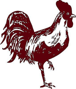 "Chicken Rooster Farm Animal Pet Cock Car Truck Window Vinyl Decal Sticker - 9"" Long Edge"