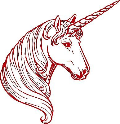 Fantasy Unicorn Magic Horse Car Truck Wall Laptop Vinyl Decal Sticker - 8""