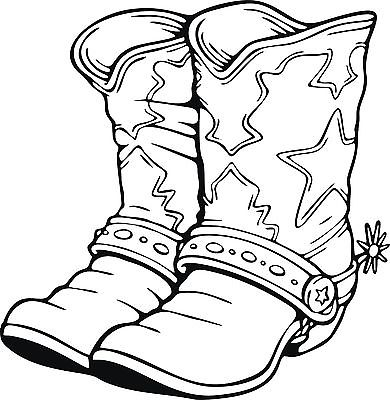 "Cowboy Cowgirl Boots Western Rodeo Car Truck Window Vinyl Decal Sticker - 9"" Long Edge"