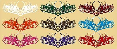 "Skull Trucker 18 Wheeler Truck Driver Road Car Boat Window Vinyl Decal Sticker - 14"" x 6"""