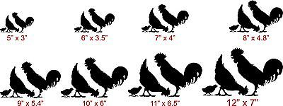 Farm Chicken Rooster Hen Country Car Truck Trailer Window Vinyl Decal Sticker - 9""