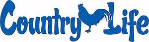 Country Life Living Rooster Chicken Car Truck Window Laptop Vinyl Decal Sticker - 5""