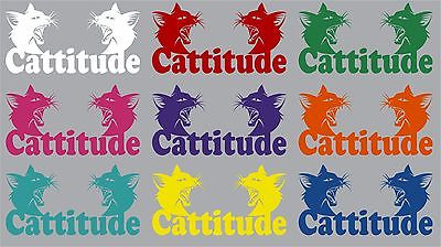 "Cat Animal Funny Kitty Pet Car Truck Window Laptop Vinyl Decal Sticker - 7"" Long Edge"