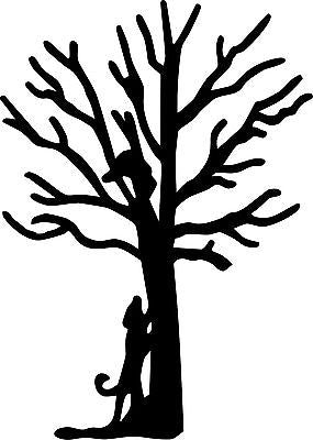 "Coon Hunter Walker Dog Hunting Tree Hound Car Truck Window Vinyl Decal Sticker - 10"" Long Edge"