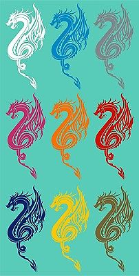 "Dragon Beast Tribal Art Myth Fantasy Car Truck Window Laptop Vinyl Decal Sticker - 14"" Long Edge"