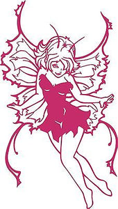 "Fairy Faerie Fantasy Mythical Girl Car Truck Window Laptop Vinyl Decal Sticker - 13"" long edge"