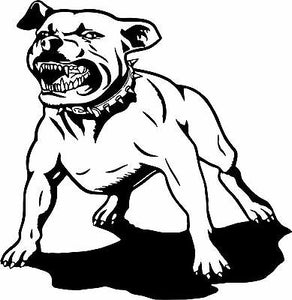 "Dog Pit Bull Pet Animal Attack Car Boat Truck Window Vinyl Decal Sticker - 13"" Long Edge"