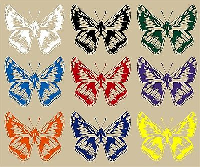 "Butterfly Bug Insect Animal Car Truck Window Vinyl Decal Sticker - 9"" Long Edge"