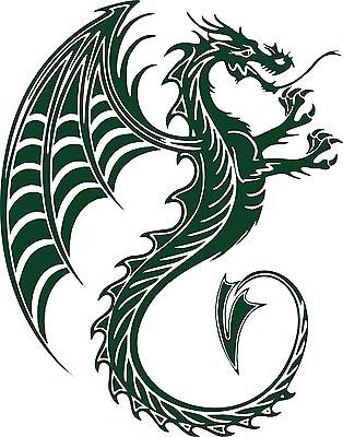 "Dragon Tribal Creature Beast Car Truck Window Laptop Vinyl Decal Sticker - 11"" long edge"