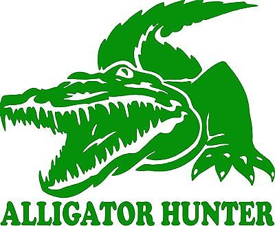 "Crocodile Alligator Gator Hunter Car Truck Window Laptop Vinyl Decal Sticker - 11"" Long Edge"