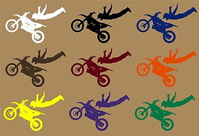 "Motorcycle Stunt Ride Bike Racing Motocross Car Truck Window Vinyl Decal Sticker - 7"" Long Edge"