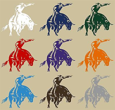 Bull Riding Rodeo Cowboy Sports PBR Car Truck Window Laptop Vinyl Decal Sticker - 12""