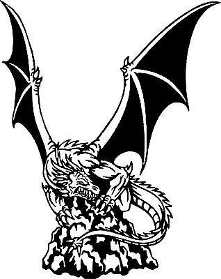 Dragon Mythology Fantasy Creature Car Truck Window Laptop Vinyl Decal Sticker - 8""