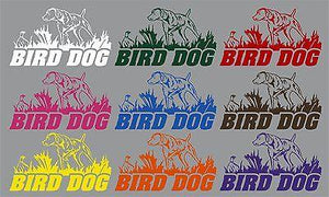 "Bird Dog Hunting Pheasant Duck Car Boat Truck Laptop Window Vinyl Decal Sticker - 6"" x 3.5"""