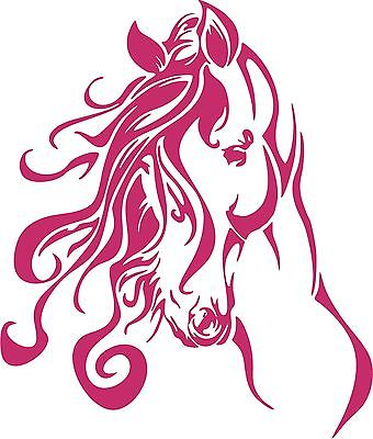 Horse Head Western Rodeo Cowgirl Car Truck Window Laptop Vinyl Decal Sticker - 6""