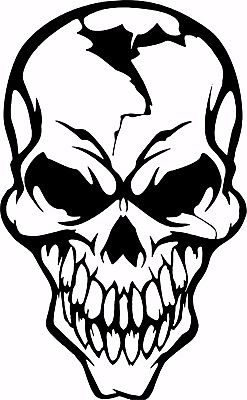 Skull Face Mask Skeleton Head Car Truck Window Laptop Vinyl  Decal Sticker - 5""