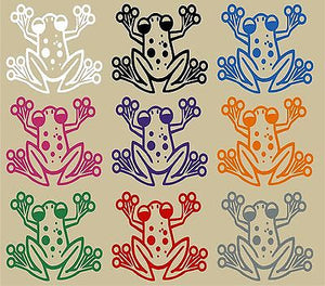 "Cartoon Tree Frog Animal Pet Car Truck Window Vinyl Decal Sticker - 10"" Long Edge"