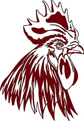 "Chicken Head Rooster Farm Bird Car Truck Window Laptop Vinyl Decal Sticker - 7"" Long Edge"