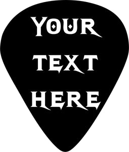 Guitar Pick Text Name Rock Music Car Truck Window Laptop Vinyl Decal Sticker - 16""