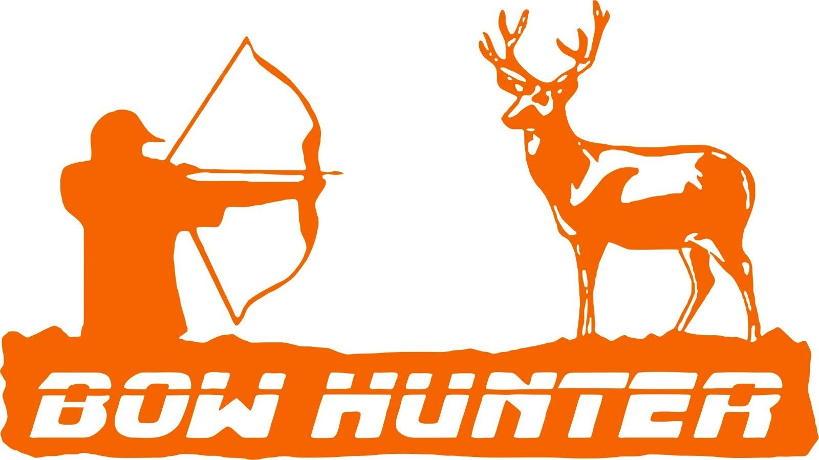 "Bow Hunter Deer Archery Hunting Car Truck Window Laptop Vinyl Decal Sticker - 12"" Long Edge"