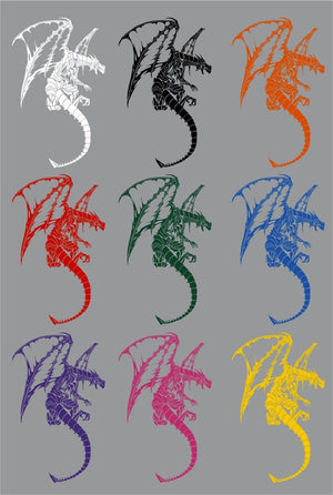 "Dragon Serpent Mythical Creature Car Truck Window Laptop Vinyl Decal Sticker - 14"" long edge"