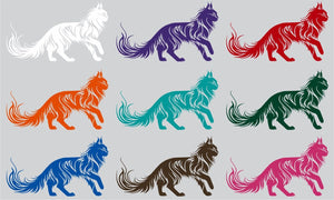 "Cat Tribal Animal Pet Truck Car Tattoo Window Laptop Vinyl Decal Sticker - 12"" Long Edge"