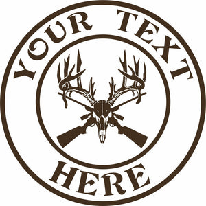 "Custom Text Hunting Deer Hunter 3 Designs Car Truck Window Vinyl Decal Sticker - 7"" Long Edge"