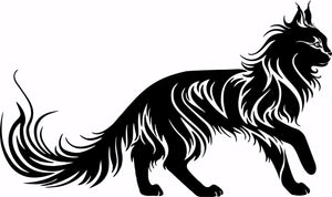 "Cat Tribal Animal Pet Truck Car Tattoo Window Laptop Vinyl Decal Sticker - 14"" Long Edge"