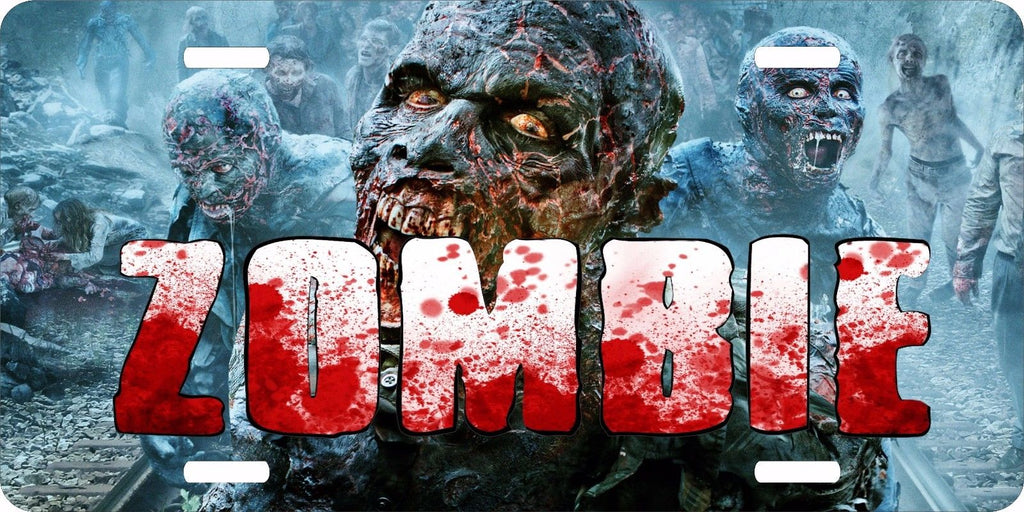 Zombie Walking Dead Monster Creature 4 Designs License Plate Car Truck Tag