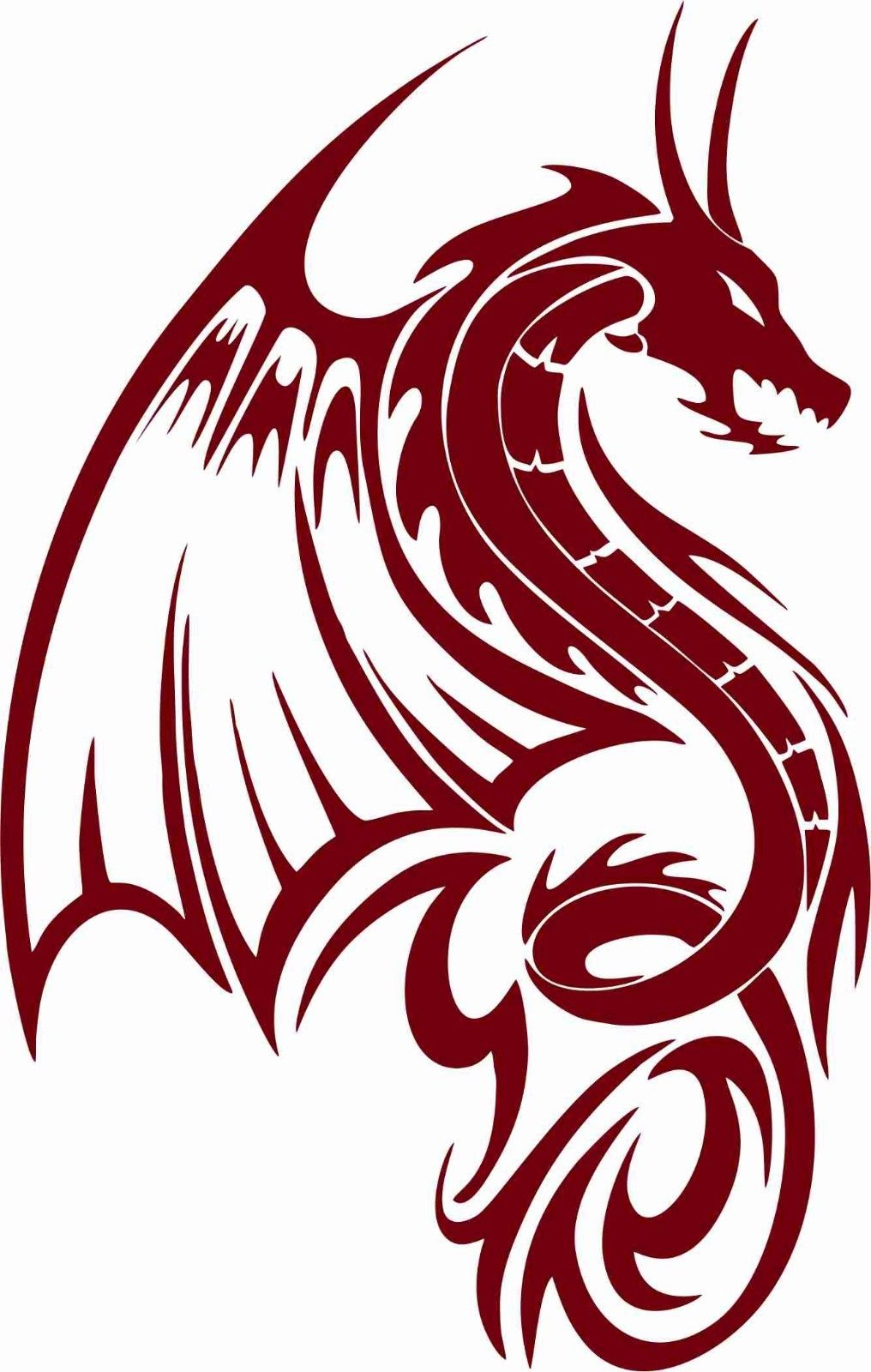 "Dragon Fantasy Mystical Creature Wings Car Truck Window Vinyl Decal Sticker - 11"" Long Edge"