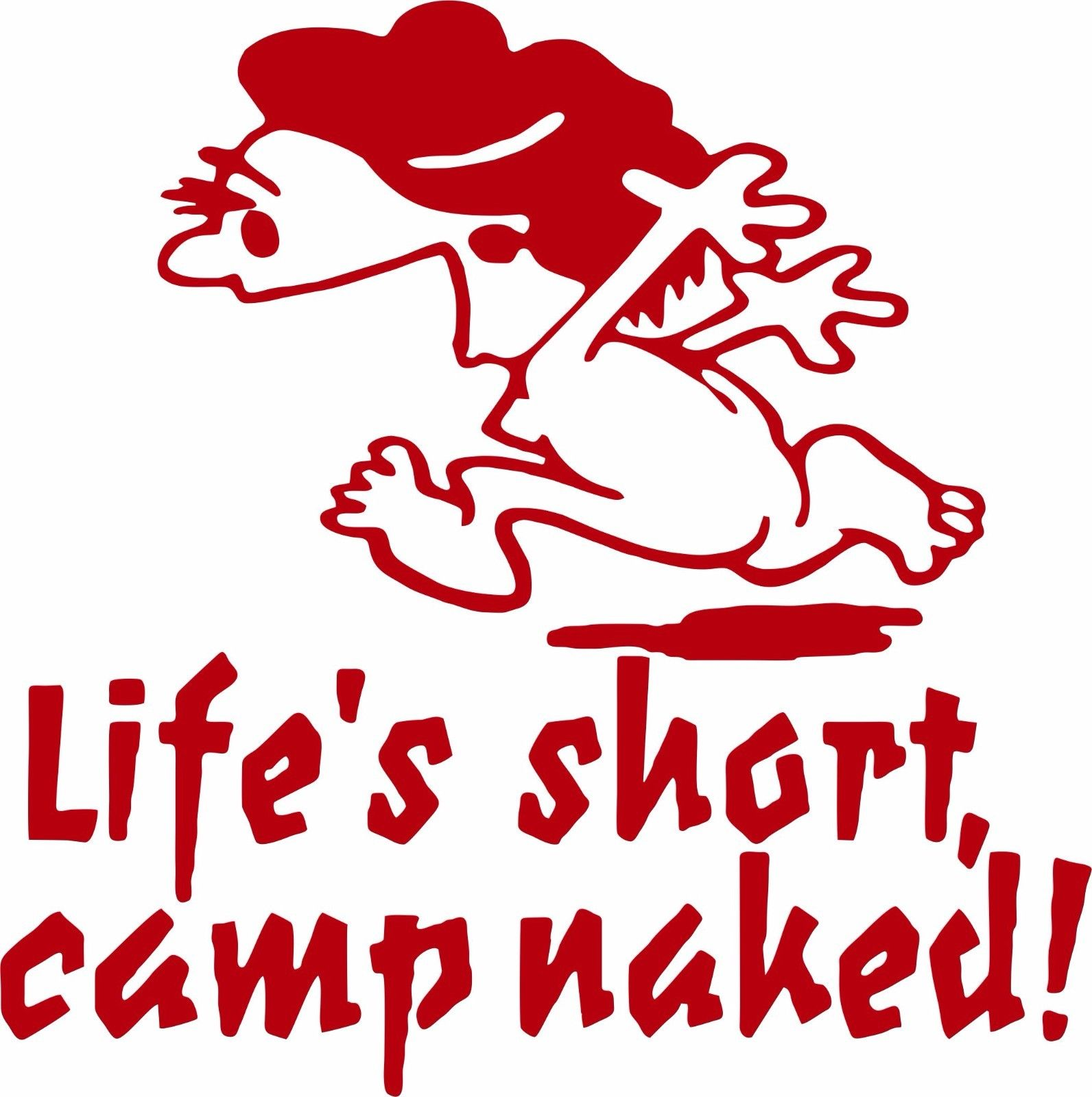Camping Camp Naked Girl Woman Car Truck Window Wall Laptop Vinyl Decal Sticker - 7""
