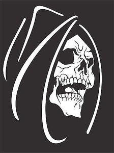 Grim Reaper Skull Monster Creature Car Truck Window Laptop Vinyl Decal Sticker - 11""