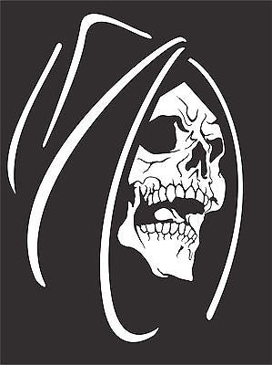 Grim Reaper Skull Monster Creature Car Truck Window Laptop Vinyl Decal Sticker - 6""