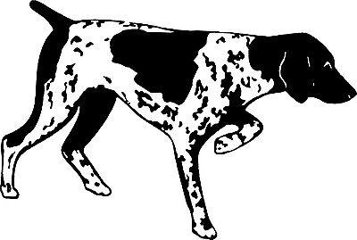Bird Rabbit Dog Pointer Hunting Gun Car Truck Window Laptop Vinyl Decal Sticker - 7""