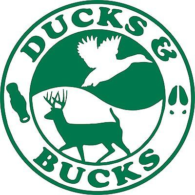 Duck Buck Hunting Hunter Gun Car Truck Window Wall Laptop Vinyl Decal Sticker - 5""