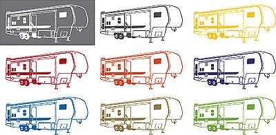 Camping 5th Wheel RV Camper Car Truck Window Wall Laptop Vinyl Decal Sticker - 10""