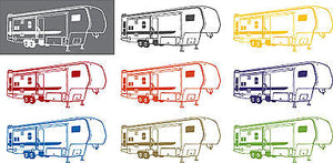 Camping 5th Wheel RV Camper Car Truck Window Wall Laptop Vinyl Decal Sticker - 11""