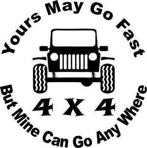 Funny 4 x 4 Truck Jeep Rock Crawling Skull Car Window Laptop Vinyl Decal Sticker - 10""