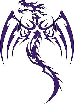 Dragon Tribal  Mythical Creature Car Truck Window Laptop Vinyl Decal Sticker - 7""