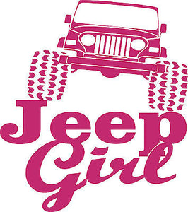 Funny 4 x 4 Jeep Girl Rock Crawling Car Truck Window Laptop Vinyl Decal Sticker - 8""