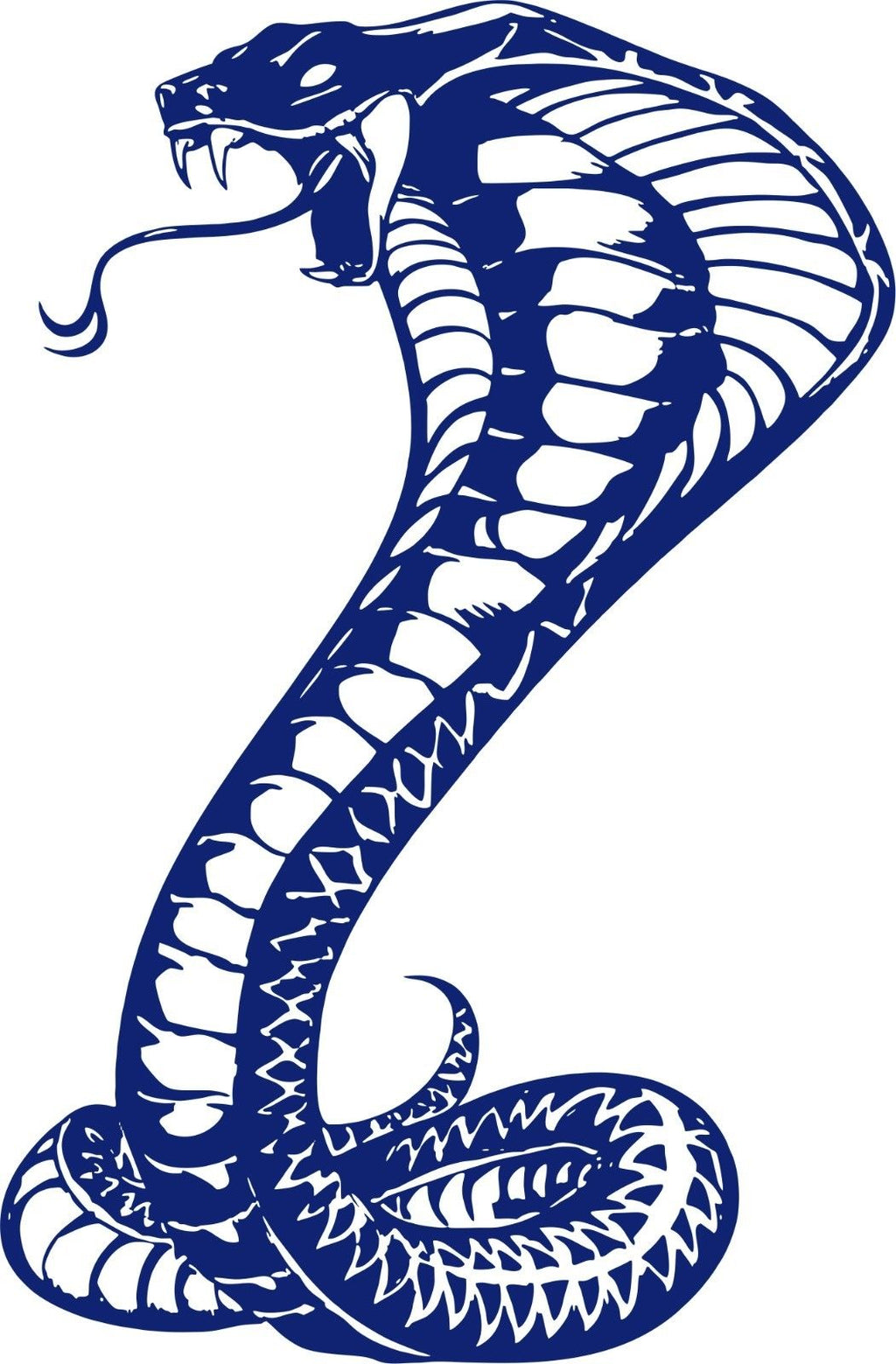 "Large Snake Naja Cobra Serpent Reptile Car Truck Boat Window Vinyl Decal Sticker - 16"" x 24"""