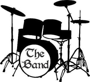 "Drums Music Rock Band Drummer Musician Car Truck Window  Vinyl Decal Sticker - 12"" x 11"""
