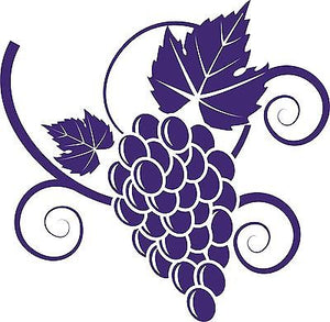Grapes Food Grape Vine Car Truck Window Laptop Vinyl Decal Sticker - 9""